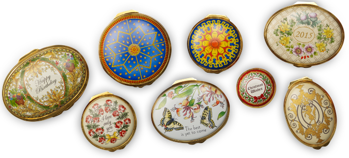 Collection of Enamel Boxes