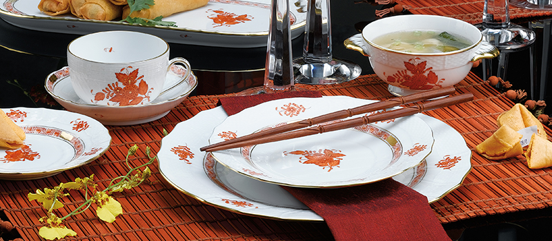Herend Chinese Bouquet Rust Collection