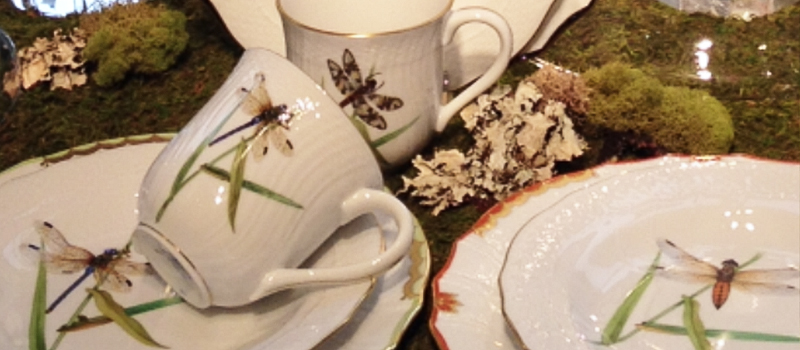Herend Dragonfly Dessert Collections